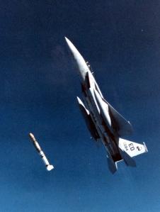 F-15 launching anti-satellite missile