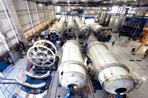 SpaceX vehicles in production. Image credit: SpaceX