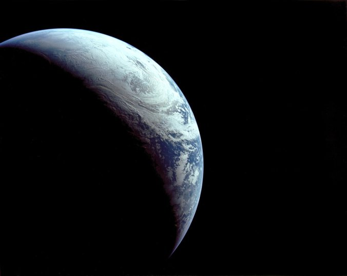 You're free to use this picture from Apollo 4 (Photo credit: NASSA).
